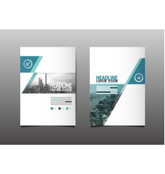Layout design template cover book city abstact vector