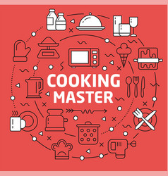Lines background cooking vector