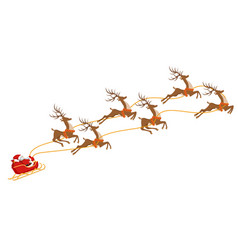 new year christmas santa claus on a sleigh vector image