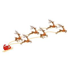 New year christmas santa claus on a sleigh vector