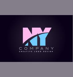 Ny alphabet letter join joined letter logo design vector