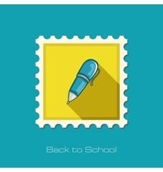 Pen flat stamp vector