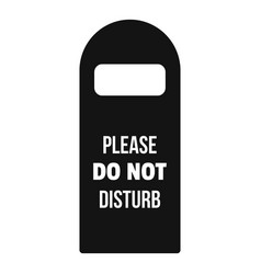 Please do not disturb room tag icon simple style vector