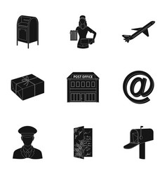 Postman envelope mail box and other attributes vector