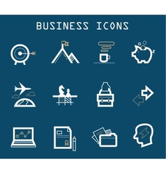 Productive at Work Icons - Blue Series vector image