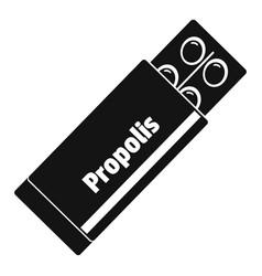 Propolis pills icon simple style vector