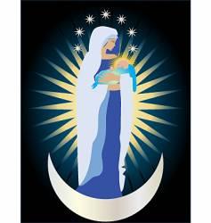 Queen of heaven vector