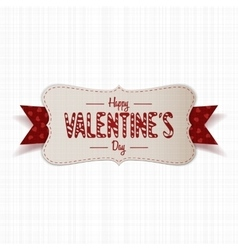 Realistic Happy Valentines Day greeting paper Card vector image