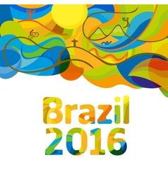 Rio 2016 abstract colorful background vector image