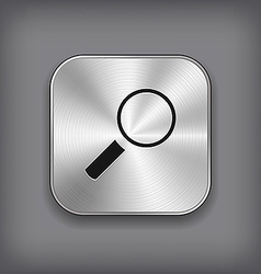 Search icon - metal app button vector