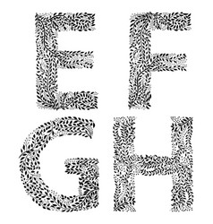set of letters e f g and h vector image