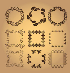 Set of vintage design elements7 vector