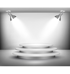 Showroom with spotlights vector image