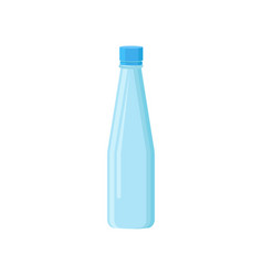 Small plastic bottle with lid for mineral water vector