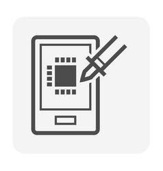 soldering icon vector image