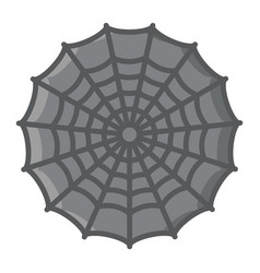 spider web filled outline icon halloween scary vector image