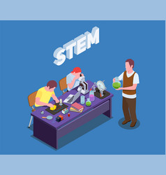 Stem students research composition vector