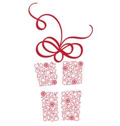 stylized gift box of christmas elements vector image