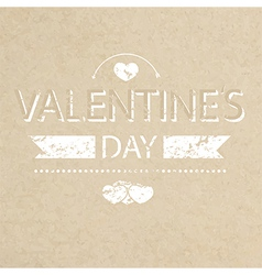 Template grunge paper valentines day card and bann vector