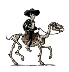 The rider in the Mexican man national costumes vector image