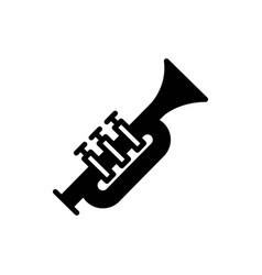 trumpet solid icon vector image