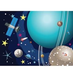 Uranus Planet in the Space2 vector image