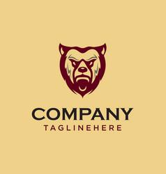 Vintage bear face mascot emblem symbols can be vector
