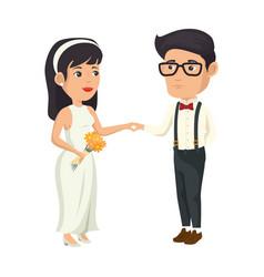 wedding couple design vector image