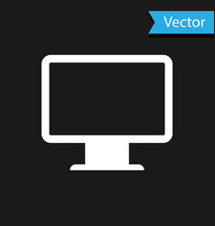 white computer monitor screen icon isolated on vector image