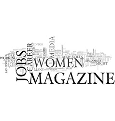 Women s career tips how to land a great magazine vector