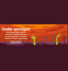 zombie apocalypse banner horizontal concept vector image