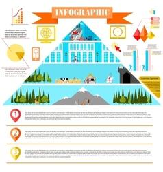 colorful change of eras infographics development vector image vector image