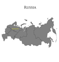 Contour map of Russia 01 vector image vector image