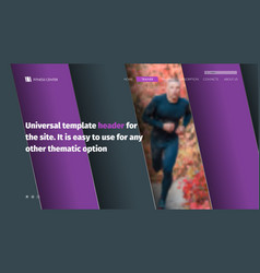 Design site header with diagonal violet-black vector