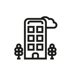 hotel icon on white background vector image