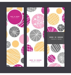 Abstract textured bubbles vertical banners set vector