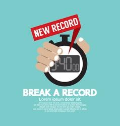 Break A Record vector image