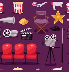 cinema movie making tv show equipment tools vector image