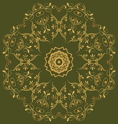 circular abstract pattern in Arabic style Set vector image vector image
