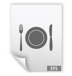 fork knife dish icon vector image vector image
