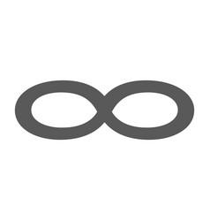 infinity symbol icon simple vector image