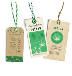 vintage style tags vector image vector image