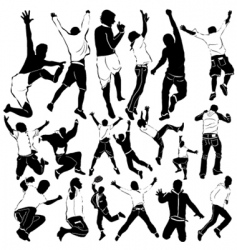dancing and party men vector image vector image