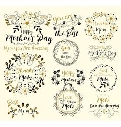 Happy Mothers DayInsignias logotypes badges vector image
