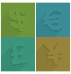 Set of money symbols vector image vector image