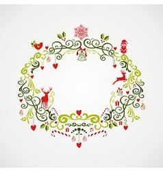 Vintage Christmas elements mistletoe design EPS10 vector image