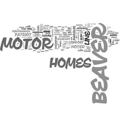 beaver motor home text word cloud concept vector image