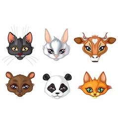 cute animal muzzle vector image vector image