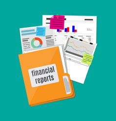 financial report concept business background vector image vector image