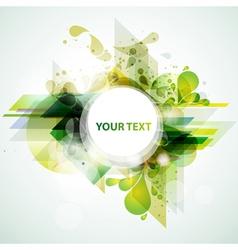 Green banner vector image vector image